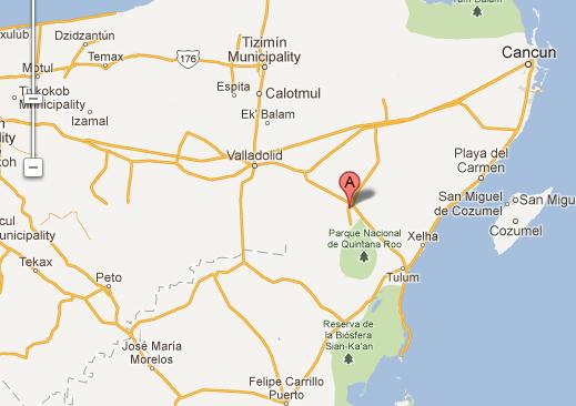 Map to Coba