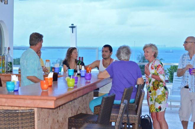 Roof top bar at Casa Sirena