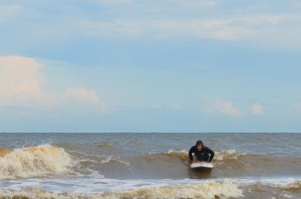 Kody D catching a wave
