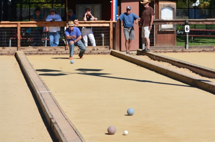 bocce player man