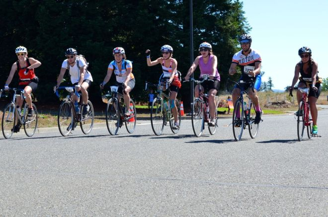 Lean Bean Team crosses the finish line