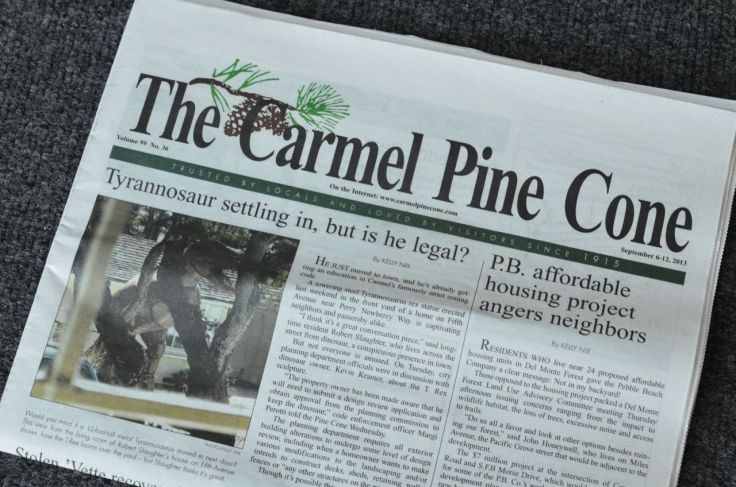 The Pine Cone front page