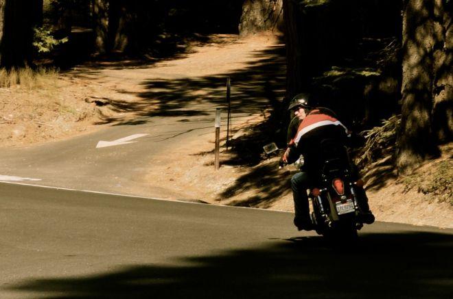 unknown old man biker