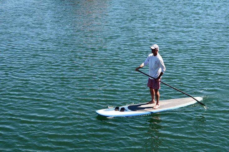 Paddle boarder Santa Barbara Harbor
