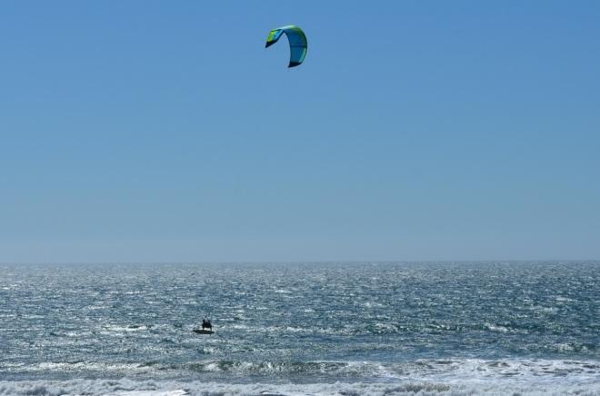 Wind surfer flying