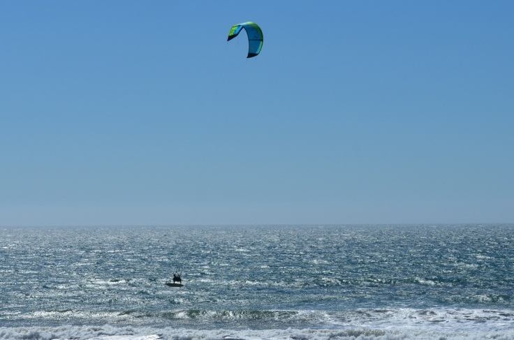 Wind surfer flying