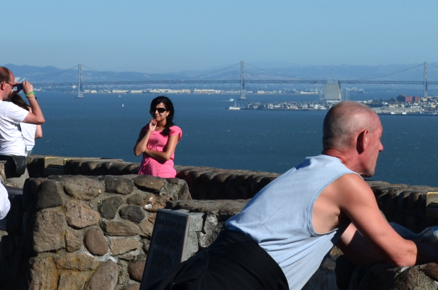 Young poser at Golden Gate