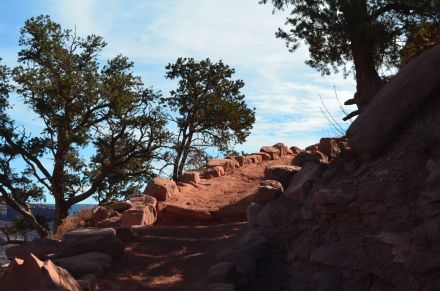 detail of arduous Kaibab trail 2