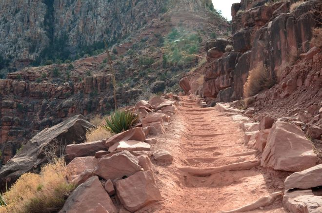 detail of arduous Kaibab trail