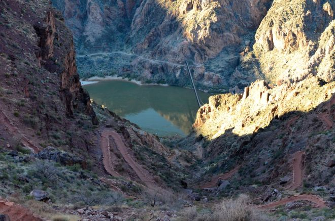 first view of the bridge to Phantom Ranch