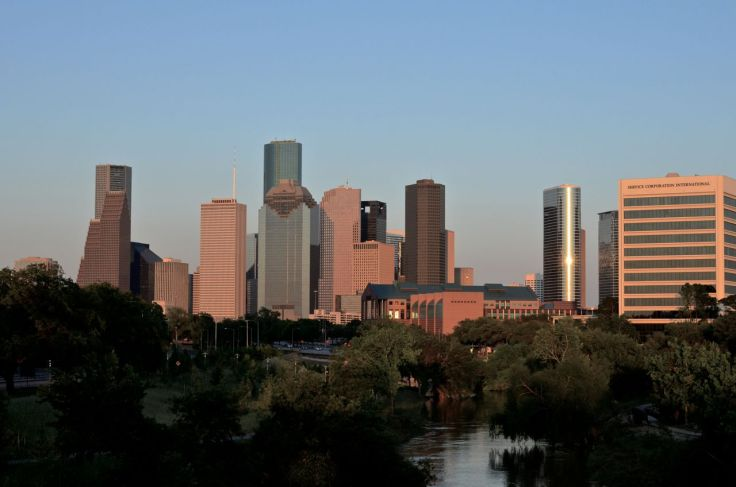 Houston skyline 8 o'clock