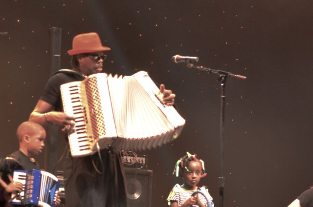CJ Chenier and kids