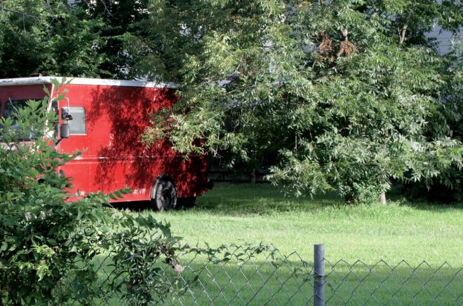 abandoned food truck