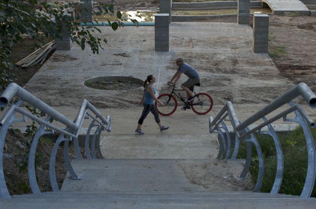 walker meets biker