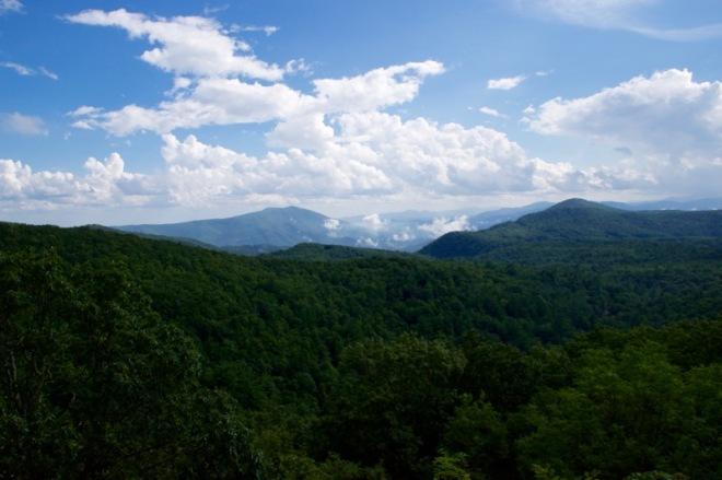 Blue Ridge Mountains closer to Ashville