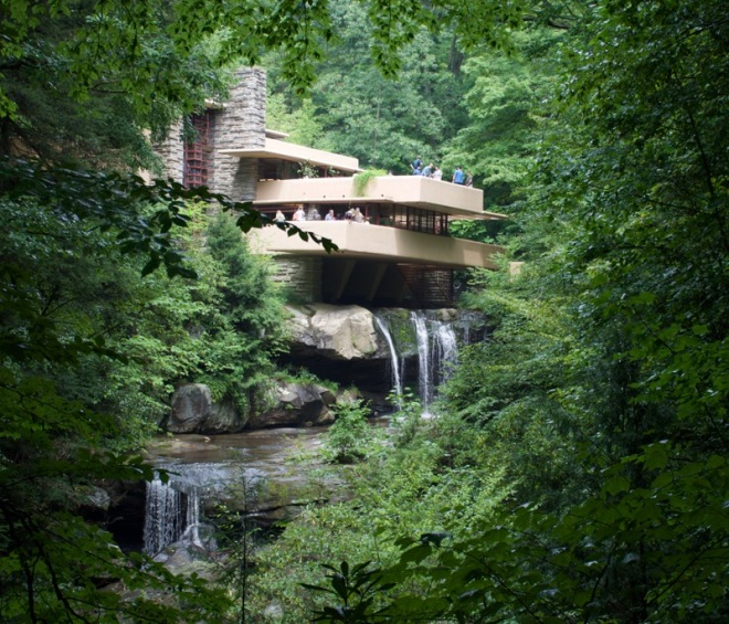 Fallingwater from the Birds-eye view