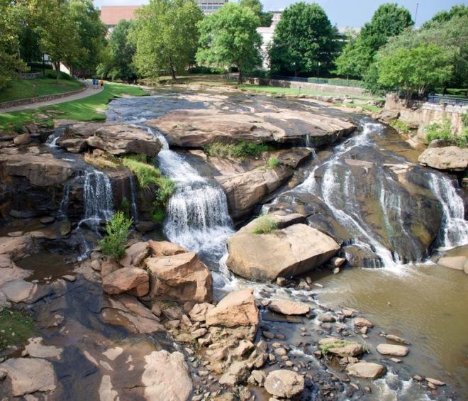 Waterfall in Greenville
