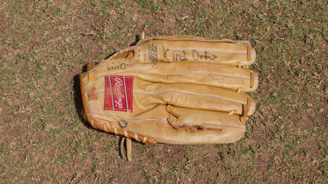 Cindi Ortiz' Ball glove